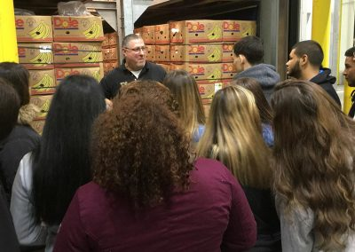 YES students from Shenandoah Valley toured Wegmans RSC in Highridge Business Park.