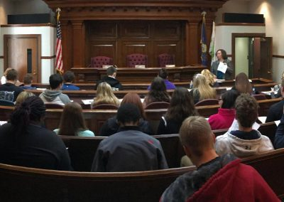 YES students from Pine Grove toured the Schuylkill County Courthouse.