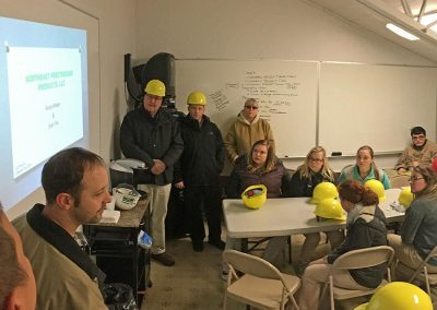 YES students from Tamaqua toured Northeast Prestressed Products in Cressona.